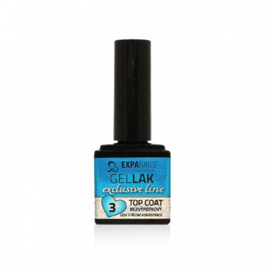 Expa Nails Gel lak TOP COAT Exclusive bezvýpotkový 11ml