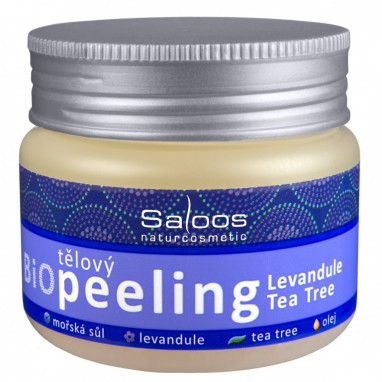 Saloos Bio Peeling levandule a Tea Tree 140ml